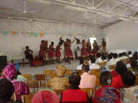 Culture Group:  this is the group performing at the program.  I guess they're doing a traditional dance.  Notice the empty seats.